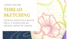 Thread Sketching com quilting livre